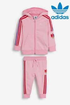 adidas Originals Infant 3 Stripe Hoody Set