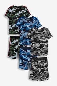 3 Pack Short Pyjamas (3-16yrs)