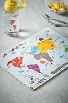 Let's Explore World Map Placemat