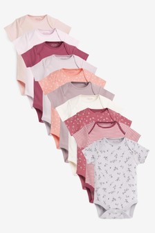 10 Pack Short Sleeve Bodysuits (0mths-3yrs) (114951) | $33 - $36