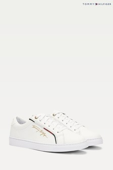 Tommy Hilfiger White Signature Branded Trainers