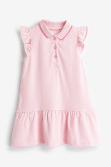 Piketové polokošeľové šaty (3 mes. – 7 rok.)