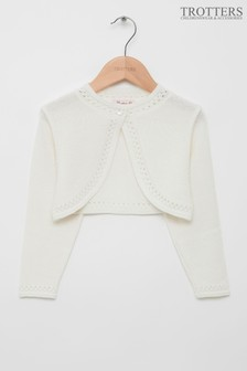 Trotters London White Sophie Bolero