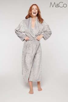 M&Co Grey Shooting Stars Dressing Gown