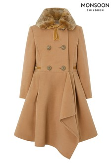 Monsoon Camel Waterfall Coat