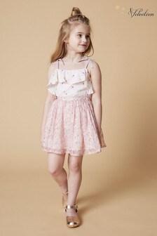 חצאית פרפר של Velveteen דגם Jemima בוורוד