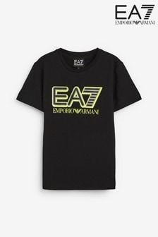 تي شيرت أولادي بشعار كبير EA7 منEmporio Armani