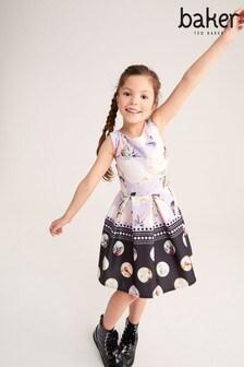 שמלה מבד סקובה עם נקודות של Baker by Ted Baker בלילך