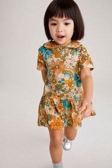 Katoenen jersey jurk (3 mnd-7 jr)