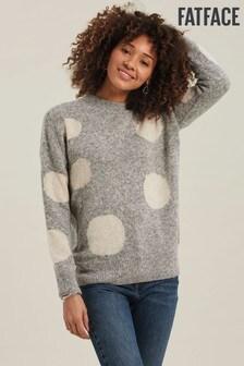 Szary sweter w groszki FatFace Rhea