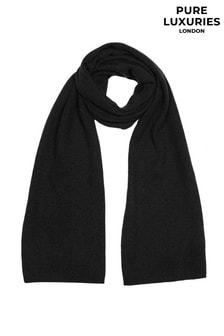 PureLuxuries London Black Oxford Cashmere Scarf