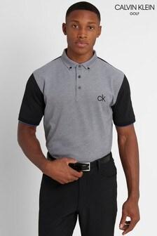 Calvin Klein Golf Black Hagen Pique Polo