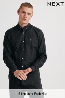 قميص أكسفورد مطاط كم طويل