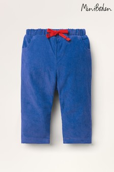 Boden Blue Jersey-Lined Cord Trousers