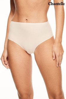 Chantelle Golden Beige Soft Stretch High Waisted Thong