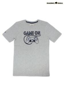 Raging Bull Grey Game On T-Shirt