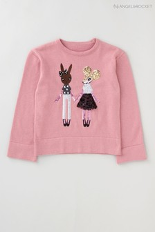Angel & Rocket Pink Mouse Sequin Jumper