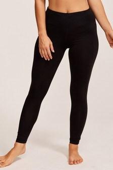 Figleaves Rebecca 7/8 Shaping Active Sports Black Leggings