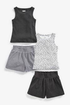 Набор маек с шортами (4 компл.) (3-16 лет)