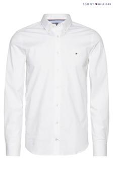 Tommy Hilfiger White Core Stretch Slim Poplin Shirt