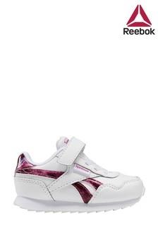 Reebok White Glitter Royal Jogger Infant Trainers