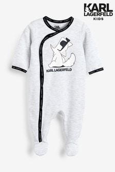 Pijama tipo pelele para niños en gris de Karl Lagerfeld