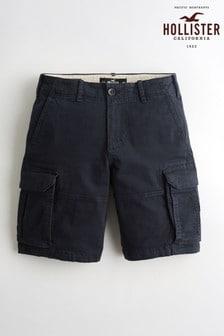 Hollister Navy Cargo Shorts