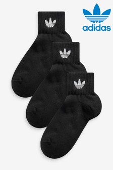 adidas Originals Adults Trefoil Ankle Socks 3 Pack