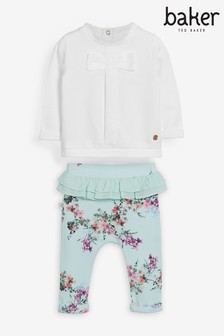 Комплект с брюками с цветочным рисунком Baker by Ted Baker (для новорожденных девочек)