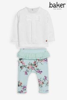 Baker by Ted Baker Baby Girls Floral Trouser Set