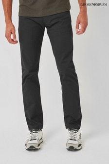 Emporio Armani J45 Straight Fit Gabardine Jeans