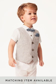Waistcoat, Shirt And Bow Tie Set (3mths-12yrs)