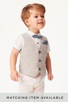 Juego de chaleco, camisa y pajarita (3 meses-12 años)