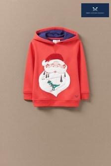 Crew Clothing Red Santa Dino Ski Hoody