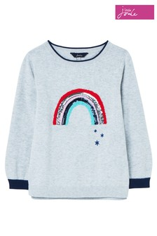 Joules Grey Miranda Artwork Knitted Jumper
