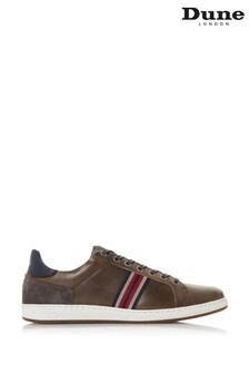 Серые кожаные кроссовки с вышитыми полосками Dune London Torontos