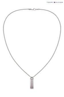 Pánsky úzky náhrdelník s vojenskými známkami Tommy Hilfiger