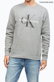 Calvin Klein Jeans Grey Iconic Monogram Sweatshirt