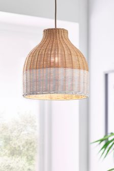 Natural Painted Rattan Woven Easy Fit Shade