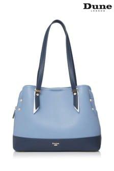 Dune London Blue Dalancie Large Colourblock Bag