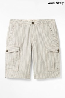 """מכנסי דגמ""""ח קצרים עם פסים של White Stuff דגם Tilbury בכחול"""