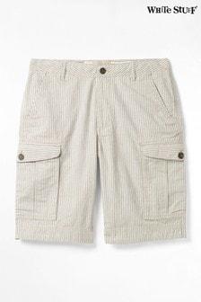 White Stuff Tilbury Gestreifte Cargo-Shorts, Blau