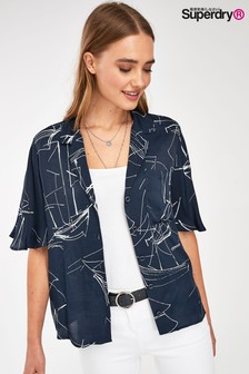 Superdry Navy Edit Boat Shirt