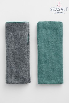 Seasalt Green Reversible Mittens