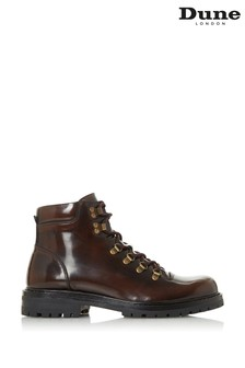 Dune London Cache Bordo Hi Shine Lace-Up Hiker Boots