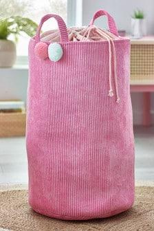 Pom Pom Cord Laundry Bag