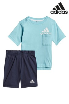 Zestaw niemowlęcy: koszulka i szorty adidas