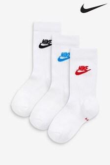 Nike White Crew Socks 3 Pack