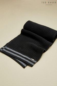 Ted Baker Donscaf Schal mit Streifendetail, schwarz