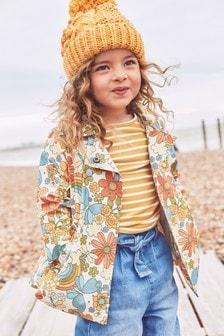 Непромокаемая куртка с цветочным принтом  (3 мес.-7 лет)